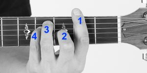 F#-Major-Barre-Front-View-Finger-Numbers